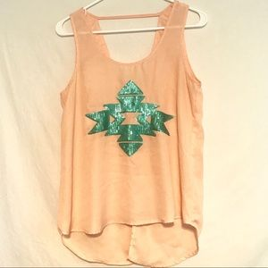 Forever 21 Sheer Tank with Sequins